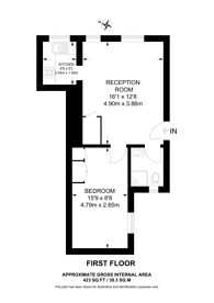 Large floorplan for Westminster Court, Aberdeen Place, St John's Wood, NW8