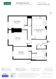 Large floorplan for Northampton Street, Islington, N1