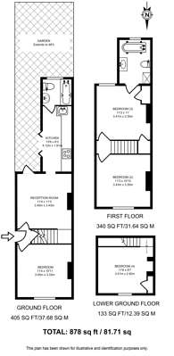 Large floorplan for Dapdune Road, Guildford, GU1
