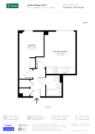 Large floorplan for Lambs Passage, City, EC1Y