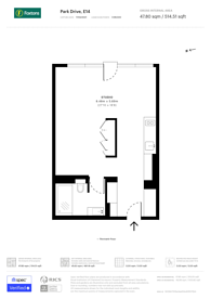 Large floorplan for Park Drive, Tower Hamlets, E14