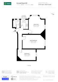 Large floorplan for Cornwall Road, Southwark, SE1