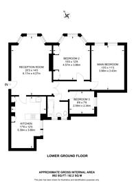 Large floorplan for Kenilworth Court, Putney, SW15