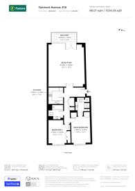 Large floorplan for Fairmont Avenue, Canary Wharf, E14