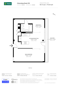 Large floorplan for Channelsea Road, Stratford, E15
