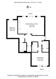Large floorplan for Putney Hill, Putney, SW15