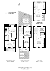 Large floorplan for Lambeth Road, SE1, Kennington, SE1