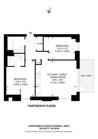 Large floorplan for No.10 Watkin Road, Wembley Park, HA9