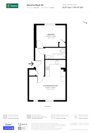 Large floorplan for Navarino Road, London Fields, E8