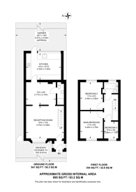 Large floorplan for Sycamore Gardens, Mitcham, CR4