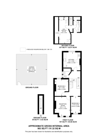 Large floorplan for Northbrook Road, Bounds Green, N22