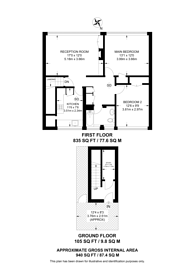 Large floorplan for Wellfield Road, Streatham Common, SW16