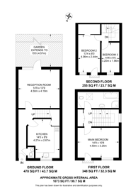 Large floorplan for Roman Way, Islington, N7