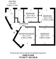 Large floorplan for Kingston Hill, Kingston, KT2