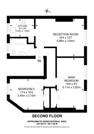 Large floorplan for Montagu Row, Marylebone, W1U