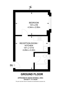 Large floorplan for Clapham Road, Clapham North, SW9
