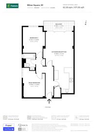 Large floorplan for Milner Square, Islington, N1
