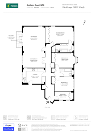 Large floorplan for Addison Road, Holland Park, W14