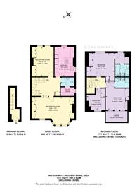 Large floorplan for Edenhurst Avenue, Hurlingham, SW6