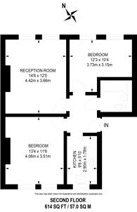 Large floorplan for Beckenham Road, Beckenham, BR3