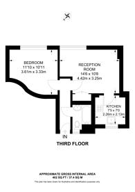 Large floorplan for Wootton Street, Waterloo, SE1
