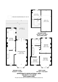 Large floorplan for Palmerston Road, Wood Green, N22