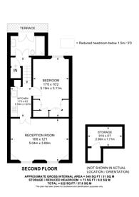 Large floorplan for Ongar Road, Fulham, SW6