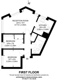Large floorplan for Earlham Street, Covent Garden, WC2H