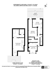 Large floorplan for Crabtree Lane, Fulham, SW6