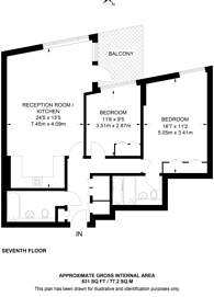 Large floorplan for Eastfields Avenue, Putney, SW18