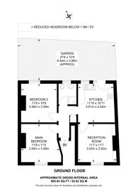 Large floorplan for Sulina Road, Clapham Park, SW2