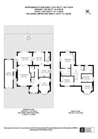 Large floorplan for Kingsmead Avenue, Worcester Park, KT4