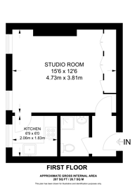 Large floorplan for Nevern Road, Earls Court, SW5