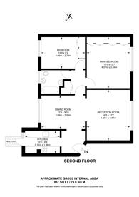 Large floorplan for Seymour Place, Marylebone, W1H