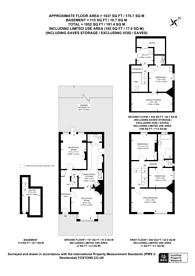 Large floorplan for Lismore Road, South Croydon, CR2
