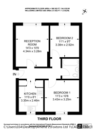 Large floorplan for Azalea Close, Hanwell, W7