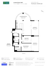 Large floorplan for Lombard Road, Battersea, SW11