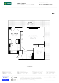 Large floorplan for Wards Place, Canary Wharf, E14