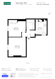 Large floorplan for Moreton Place, Pimlico, SW1V