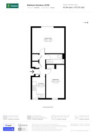 Large floorplan for Baldwins Gardens, Farringdon, EC1N