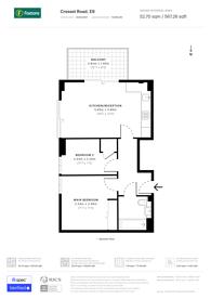 Large floorplan for Cresset Road, South Hackney, E9