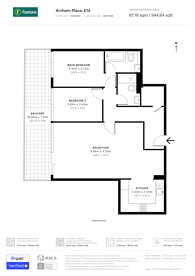 Large floorplan for Arnhem Place, Canary Wharf, E14