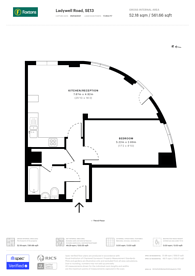 Large floorplan for Ladywell Road, Ladywell, SE13