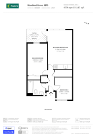 Large floorplan for Woodland Grove, Greenwich, SE10