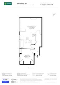 Large floorplan for Alscot Road, Bermondsey, SE1