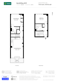 Large floorplan for Bunhill Row, City, EC1Y